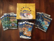 Pokemon Base Set 1999 Unlimited Booster Box and 36 Wrappers All opened NO CARDS