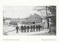 "*Postcard-""The Grays Harbor Lifesaving Crew""  -Washington's Outer Coast (XT11)"