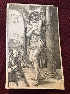 17TH C. DÜRER ENGRAVED PASSION OF JÉSUS CHRIST 1509 LATER IMPRESSION DÜRER