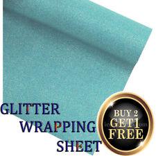 Glitter Felt - Sparkly Felt sheets - sparkles - 69 X 49 sheet BLUE