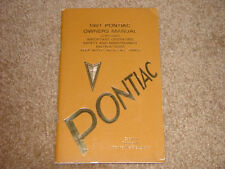 1981 Pontiac Bonneville Brougham Factory GM Original Owners Manual First Edition