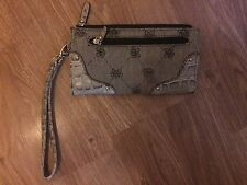GIONNI WOMENS 20X10CM GREY ZIP FASTEN PURSE (NEW WITHOUT TAGS)