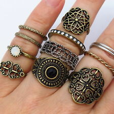 Vintage Set of Rings in Gold Tone