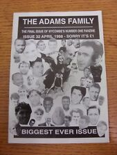 Apr-1998 Wycombe Wanderers: Fanzine - The Adams Family Issue 32. Thanks for view