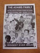 Apr-1998 Wycombe WANDERERS: fanzine-La Famiglia Adams tema 32. grazie per la vista