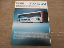 Pioneer TX-1000 Stereo Tuner Original Catalogue