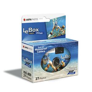 Kamera USA & Einweg Unterwasser- Agfa Alle Box OCEAN 27 Foto Mit Flash