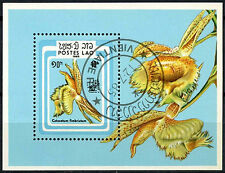 Flowers Used Lao Stamps