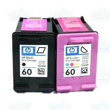 2 Genuine HP 60 Black/Color Ink Photosmart C4610 C4799 C4640 C4780 C4798  C4670