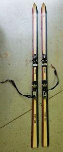 K2 Three Skis 185cm Vintage Look Bindings Safety Straps Threes 3s Skiis Ski