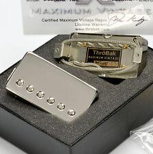 ThroBak DT-102 MXV Vintage Repro P.A.F./PAF Humbucker USA MADE Shiny Nickel