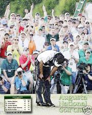 Golf  Poster - Bubba Watson - Winning Putt 2014 Masters/Final Score /16x20 inch