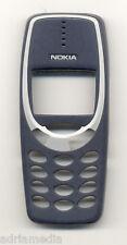 ORIGINALE Nokia FRONT Guscio superiore cover 3310 3330 CHASSIS GUSCIO per cellulare blu blue