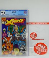 CGC 9.2 Marvel Comics X FORCE #1 White Pages POLYBAG & CARD Cable ROB LIEFELD !