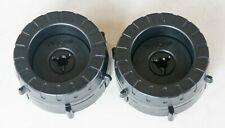 Lot of 2 NEW OEM TASCAM TZ  Black 1/2in NAB Hub Adapters 80-8 TSR-8 MSR-16 38