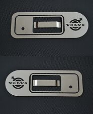 x2 Set Mirror Stainless Steel Handle Door Covers for Volvo FH/FM/FL Chrome
