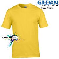 Gildan T-SHIRT Daisy Yellow Basic tee S M L XL XXL XXXL Men's Heavy Cotton