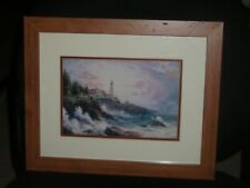 "Thomas Kinkade ""Clearing Storms' Framed Matted Print 16x13"