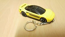 Diecast 1990 Acura ( Honda ) NSX Yellow Toy Car Keyring NEW