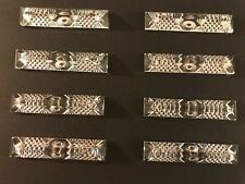Set of 8 Vintage Hungarian Crystal Knife Rests Triangular Shape
