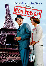 Disney Fred MacMurray Romance Comedy Family Trip to Paris France Bon Voyage DVD