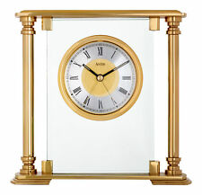 Stylish Heavy Glass and Brass Callisto Acctim Quartz Clock 36128