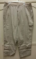 New with Tags Hasting & Smith Khaki Pants Elastic Drawsting Waist Plus Size 22W