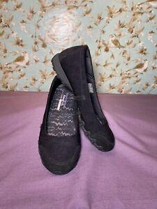 Size 10   Skechers Women's Shoes Slip On Black Relaxed Fit *CUT STRAP*