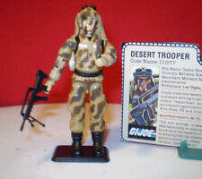 1985 GI JOE DUSTY DESERT CAMO SOLDIER 100%+ RARE BIPOD & FILE CARD ARAH cobra **