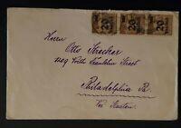 1922 Germany to Philadelphia Pennsylvania USA Inflation Overprint Cover