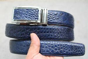 Luxury Genuine Alligator ,CROCODILE Leather Skin Men's BELT Blue