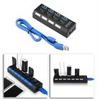 NEW KDQ1 USB 3.0 Hub 4 Ports Speed 5Gbps for PC laptop with on/off SB