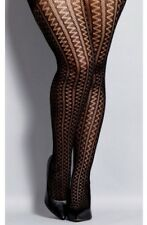City Chic Plus Size 20W/22W L/XL Black Zig Zag Tights NWT