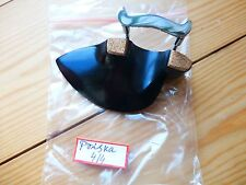 EBONY VIOLIN CHIN REST, PRISKA MODEL, WITH CORKED CLAMP, 4/4, FROM UK!