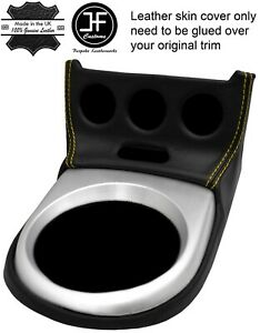 YELLOW STITCH SHIFT SURROUND LEATHER COVER FITS NISSAN 350Z 06-09 FACELIFT