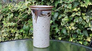 Vintage Don Glanville British studio pottery vase stoneware Mark DG. 24.5cm High