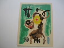 VINTAGE MIRO JOAN LITHOGRAPH SURREALIST SURREALISM EXPRESSIONISM MODERNISM RARE