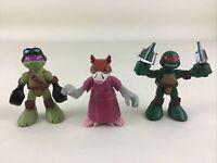 """Teenage Mutant Ninja Turtles 3"""" Figures Raph Don Splinter Half Shell Heroes TMNT"""
