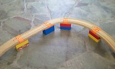 Custom Train Track Adapter to Duplo fits variety wooden sets Orange Lot of 4