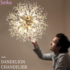 9 Light Crystal Chandelier Firework Hanging Sputnik Pendant Dandelion Fixture