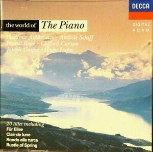 The World Of The Piano - Ashkenazy, Schiff, Lupu  - CD, VG