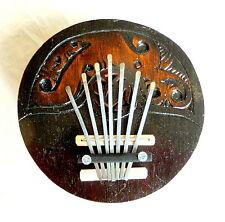 Kalimba Sanza aus Cocos daumenklavier handarbeit 7 Metallzungen Lamellophon