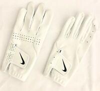 Nike Men's Large Left Handed GOLF GLOVE  White/Black Swoosh tech/Dura Feel NEW!