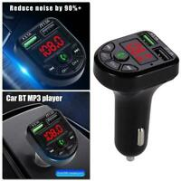 Wireless Bluetooth Car Kit Auto Radio KFZ Adapter FM Mp3-Player Transmitter J1E7