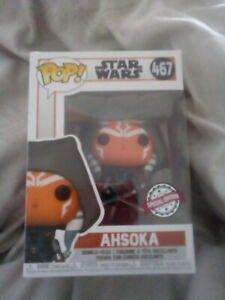 Special Edition Funko Pop! Star Wars - Ahsoka Hooded  #467  The Mandalorian.