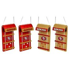 San Francisco 49ers Toboggan Holiday Christmas Tree Ornaments 4 pack NEW