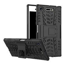 Hybrid Case 2teilig Outdoor Schwarz Tasche Hülle für Sony Xperia XZ1 G8341 G8342