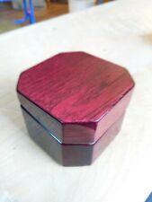 "Wooden octagon Shaped trinket Box 2 1/2"" X 3 1/4"" X 3 1/8"""