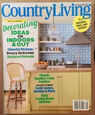 Country Living Decorating Ideals For Indoors/out July/August 2015 FREE SHIPPING!