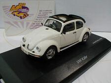 """Schuco 03879 # VW Käfer 1600 Baujahr 1966 """" Open Air """" in weiß 1:43 NEU"""